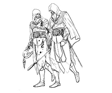 #10 Assassin's Creed Coloring Page