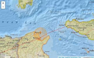 مركز الزلزال 9 كلم عن مدينة غار الملح و نحو 14 كلم عن مدينة رأس الجبل و رفراف
