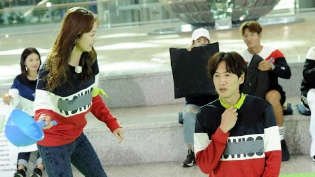 Lakukan Adegan Romantis dan Saling Balas Dendam Di Running Man Eps 377 Lee Kwang Soo dan Jun So Min