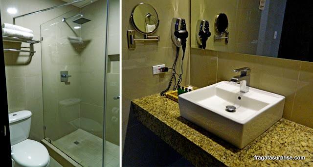 Banheiro do Quarto do Best Western Plus Panama Zen Hotel, Cidade do Panamá