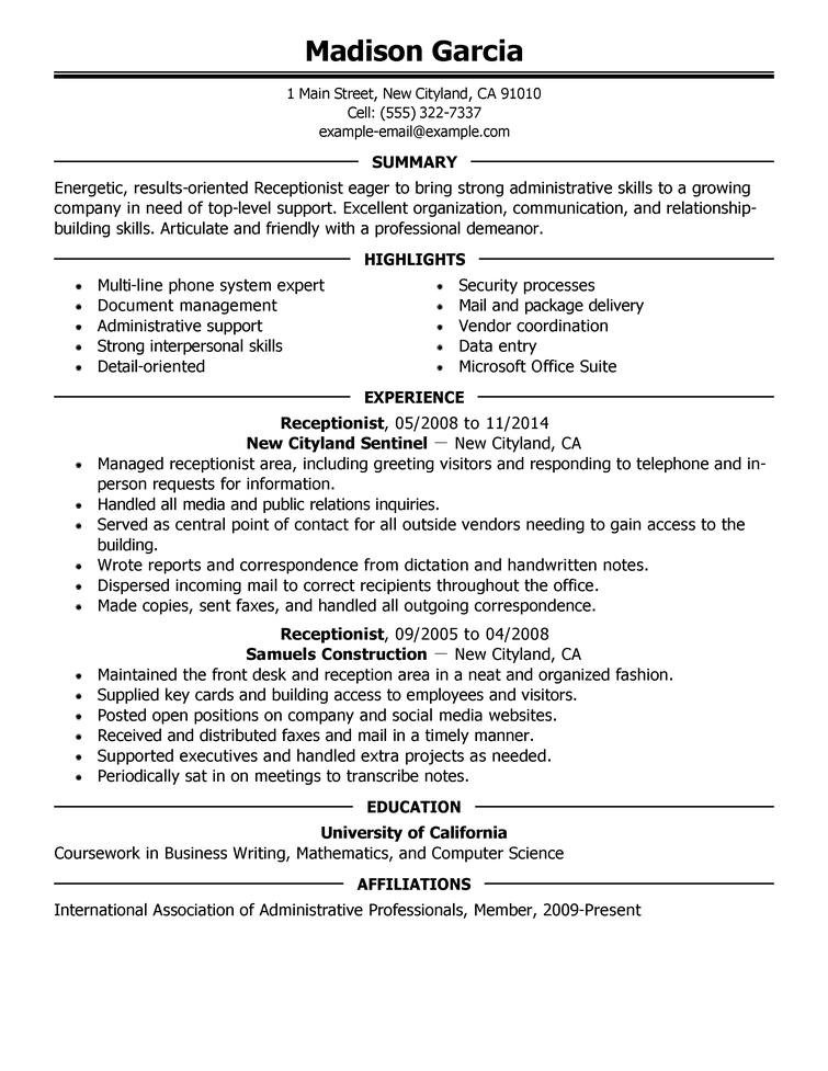 7 samples of professional resumes  sample resumes