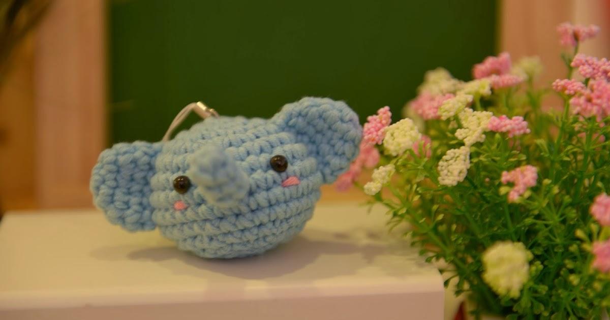 花。生什麼樹: (10月份)編織-鉤針娃娃(小象 小兔)