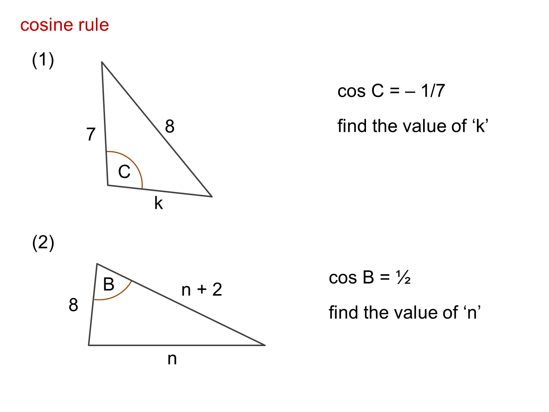 Median Don Steward Mathematics Teaching Cosine Rule