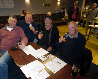 Visitors to Brigg Beer Festival enjoying their pints - May 2019