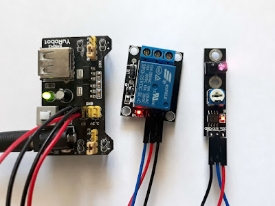 Montaj cu senzor infraroșu pentru obstacole și releu