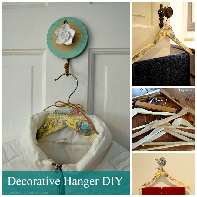 How to make a decorative hanger with wrapping paper