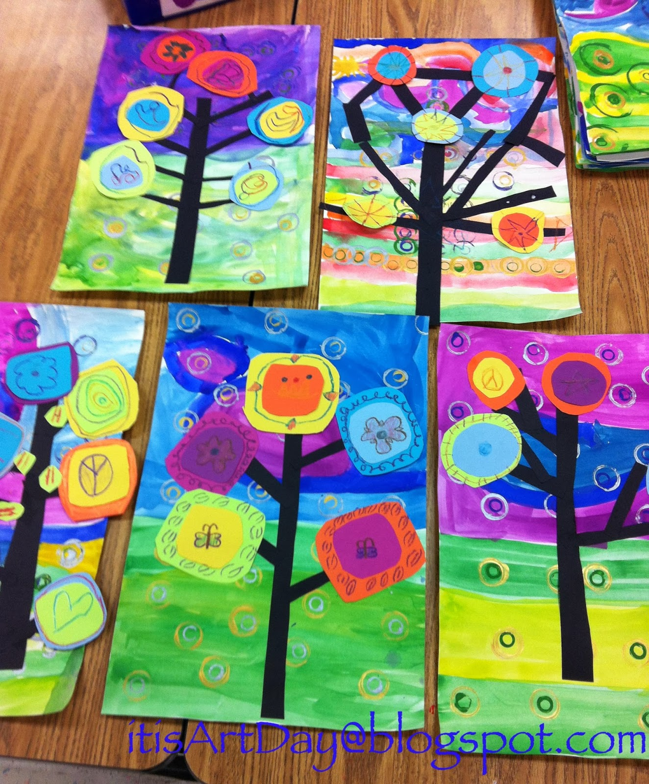 It 39 s art day kandinsky trees for Craft work for class 3