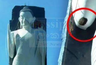 man dies removing bee hive - Buddha statue