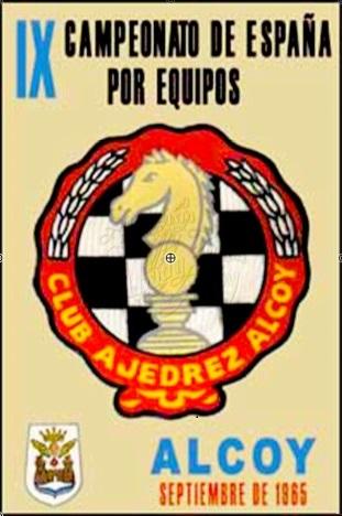 Cartel del IX Campeonato de España de Ajedrez por Equipos