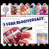 Happy 3 Year Blogiversary Kimett Kolor!! Plus Giveaway!