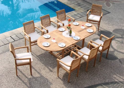 Round Kitchen Tables with Feng Shui touch Round Kitchen Tables with Feng Shui touch 9 piece grade A teak dining set