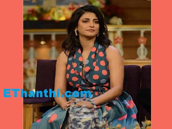 டிவி ஷோவிற்கு க்யூட்டாக வந்த ஸ்ருதிஹாசன்   Shurti Hassan who came to the TV Show !