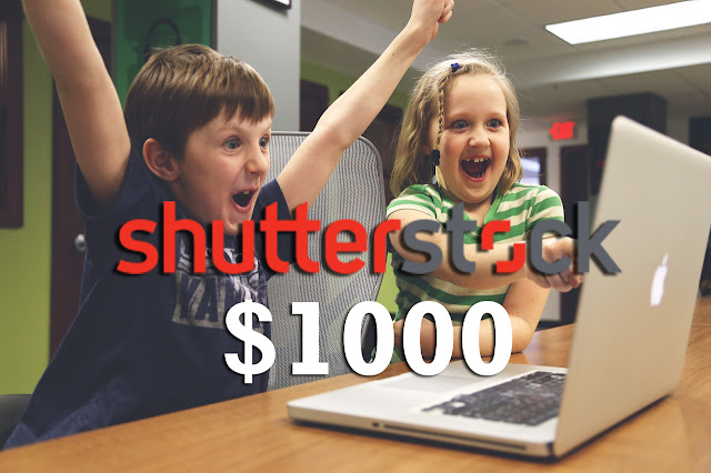 menghasilkan 1000 dollar dari shutterstock