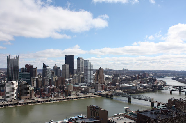 Pittsburgh skyline from atop Mount Washington