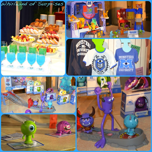 #MonstersUToyFair Press event featuring the hottest toys and apparel from the Monsters University movie