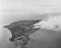 Vista panorámica de la isla de Iwo Jima