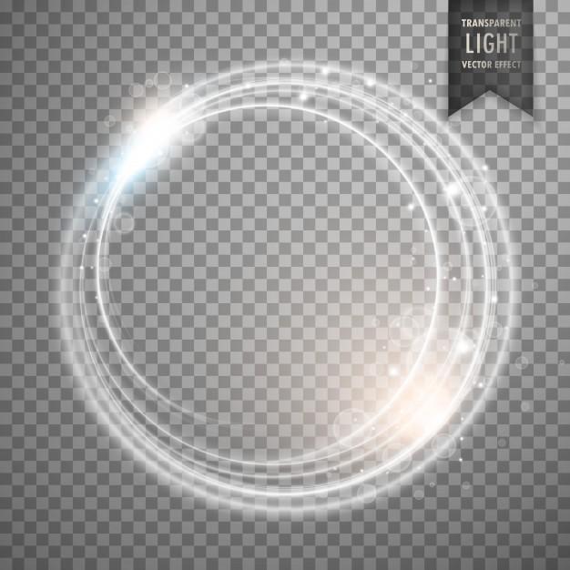 Transparent white light effect Free Vector