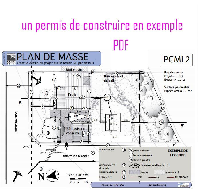 Un permis de construire en exemple pdf book batiment for Superficie permis de construire