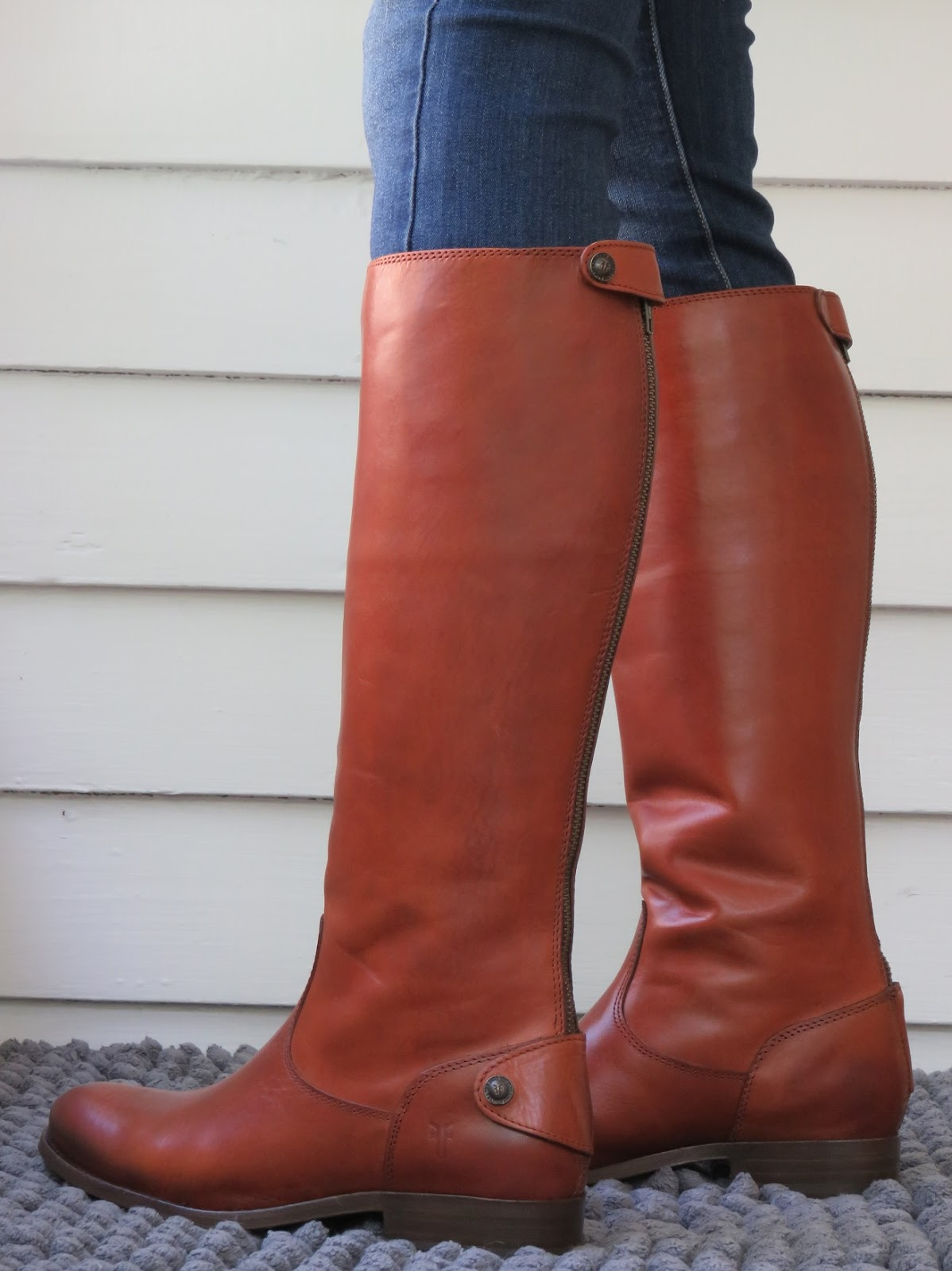 Howdy Slim! Riding Boots for Thin Calves: Frye Melissa Button Back Zip