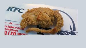 rata frita en kentucky fried chicken