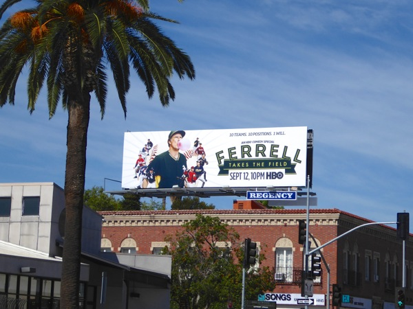 Ferrell Takes the Field billboard