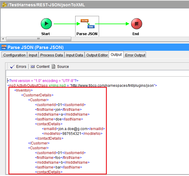 TIBCO Point | Tech Blog: TIBCO | Working with REST and JSON Plugin