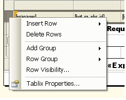 SSRS: Hide/Visible the particular row or column based on