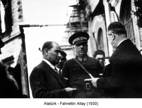 Atatürk Fahrettin Altay 1930 Fotoğraf