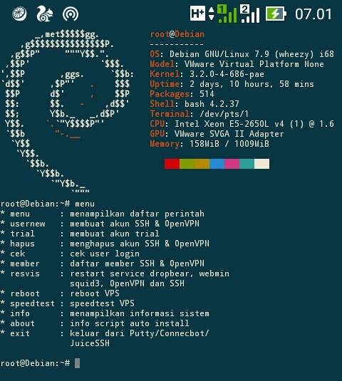 script auto installer ssh vps debian