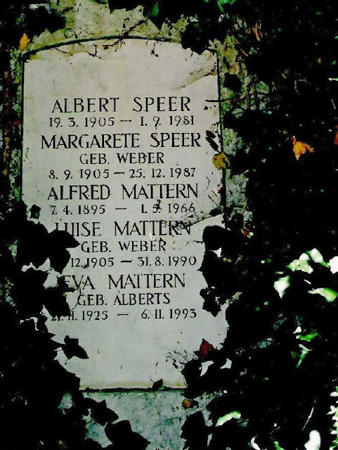 Albert Speer tombstone, Third Reich graves worldwartwo.filminspector.com