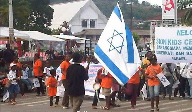 Pengibaran Bendera Israel di Papua
