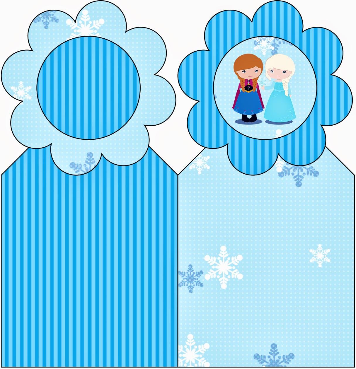 Frozen Niñas para Navidad Azul: Imprimibles Gratis para Fiestas ...