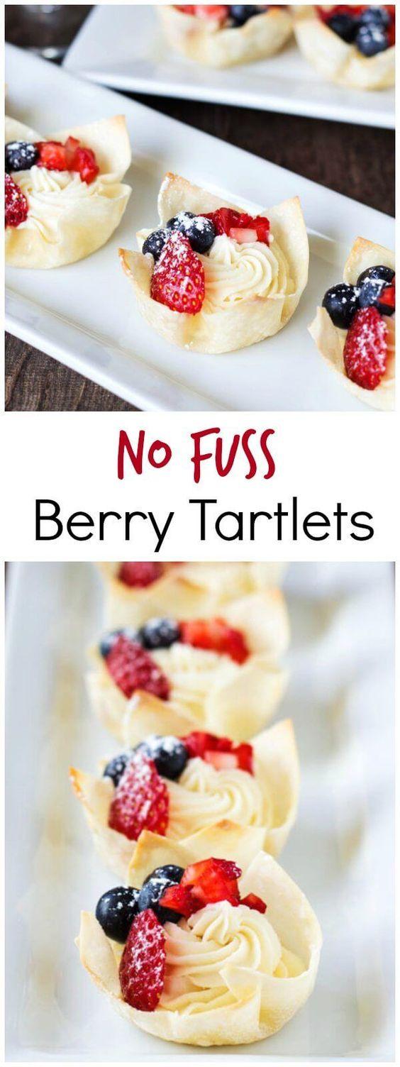 No Fuss Berry Tartlets
