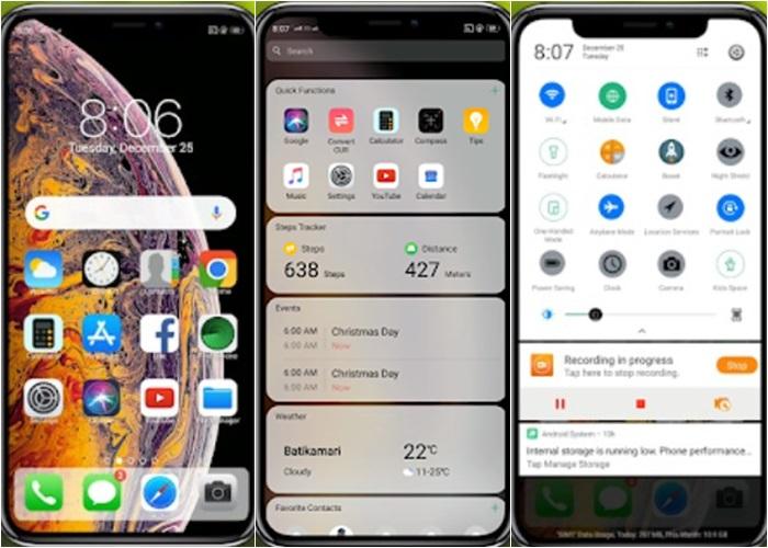 13 Tema Iphone Untuk Oppo Coloros Ios Tembus Akar
