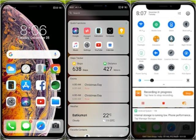 Tema iPhone untuk Oppo (ColorOS & iOS) Tembus Akar - 10s Max