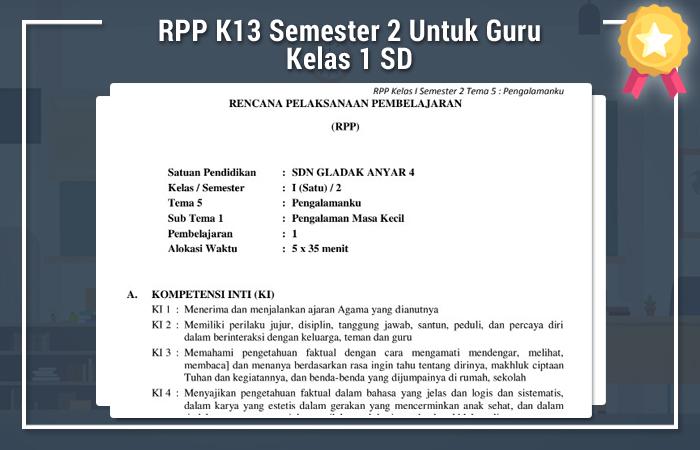 RPP K13 Semester 2 Untuk Guru Kelas 1 SD