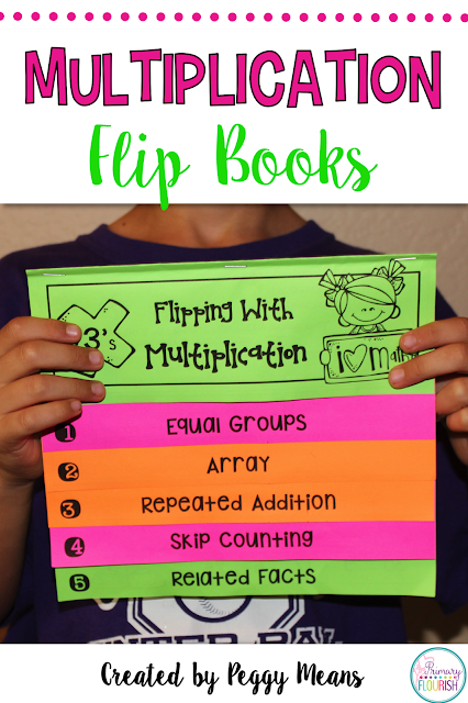 Multiplication Strategies Interactive Flip Books {2's - 10's}  Your students will flip over these multiplication strategies interactive flip books!  These 9 Multiplication Strategies Interactive Flip Books and anchor posters will help your students understand the concept of multiplication and help them memorize their multiplication tables. Each flip book follows the same format, so once your students learn how to do one, they can do the additional ones with greater independence.
