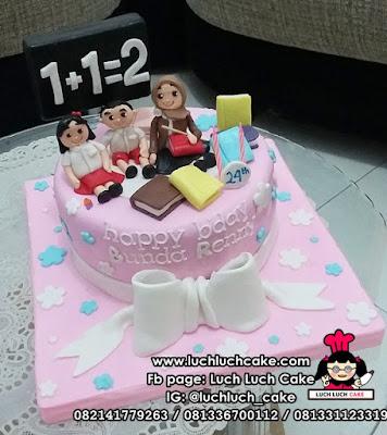 Kue Tart Ulang Tahun Tema Guru