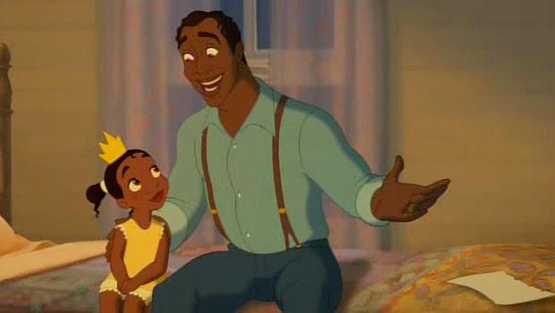 Tiana et son père dans La Princesse et la grenouille (2009)
