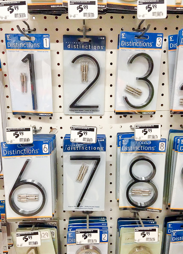 Black house number signs