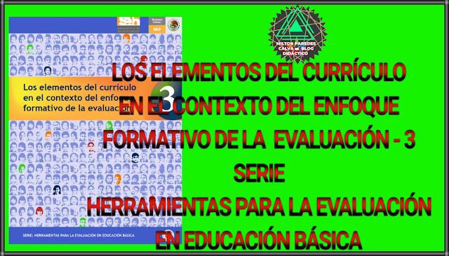 LOS ELEMENTOS DEL CURRÍCULO EN EL CONTEXTO DEL ENFOQUE FORMATIVO DE LA EVALUACIÓN-3 - SERIE: HERRAMIENTAS PARA LA EVALUACIÓN EN EDUCACIÓN BÁSICA
