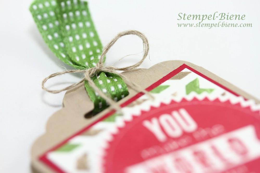 Schokoladenverapckung für Männer, Stampin' Up Stanze gewellter Anhänger, Stampin' Up Jahreskatalog 2014-2014, Stampin' Up Auslaufliste 2014
