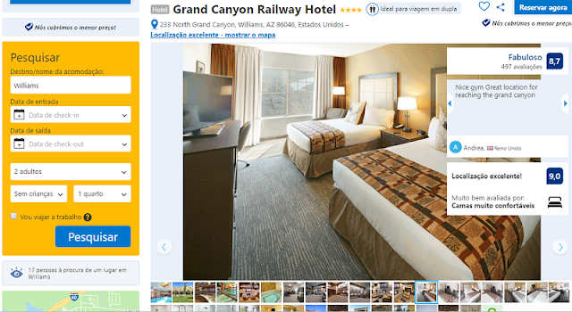 Estadia no Grand Canyon Railway Hotel em Williams