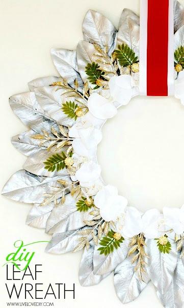 facil de manejar Casarse vóleibol  LiveLoveDIY: How To Make a DIY Christmas Leaf Wreath (with Rub n Buff)