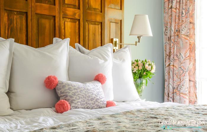 Pom Pom Leopard Pillow