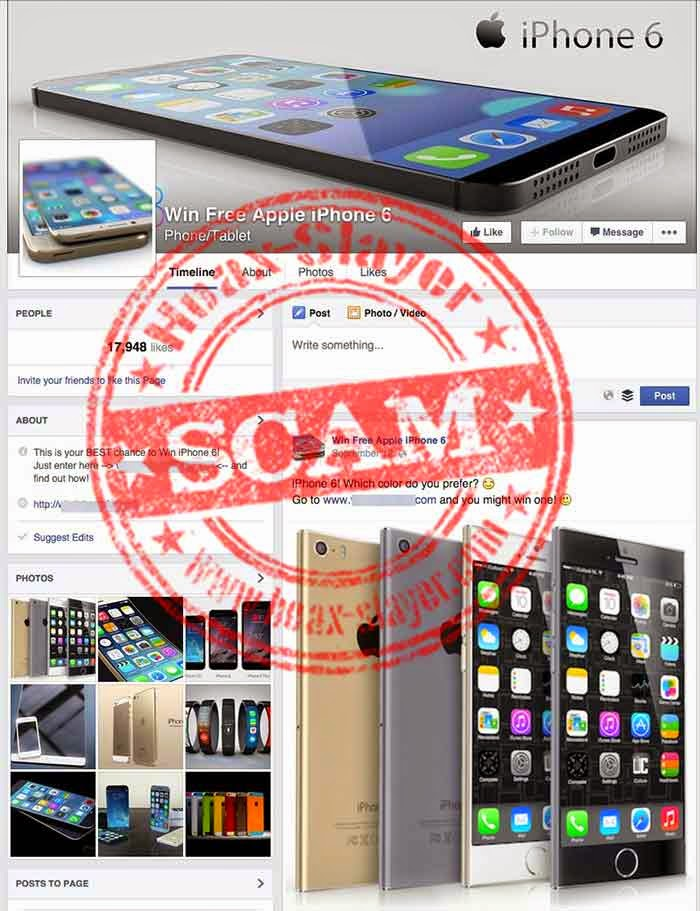 Win A Free Iphone 6 >> Win Apple S Iphone 6 For Free A New Facebook Scam Hackdig