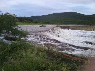Chove 100 mm na Zona Rural de Santa Luzia. Rios estão cheios