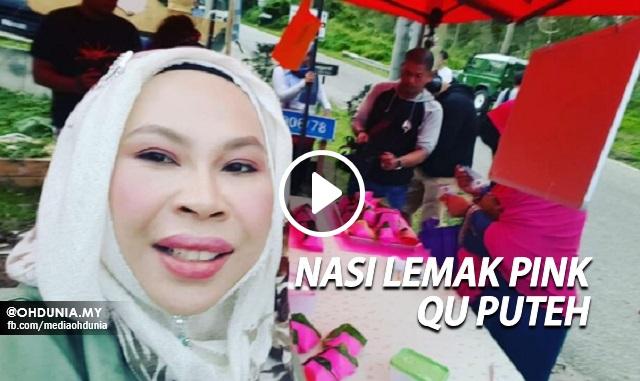 Video: 'Qu Puteh' Perkenal Nasi Lemak 'Mengancam' Warna Pink