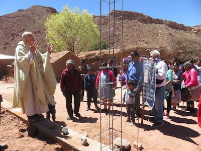 an der Baustelle in Casa Grande wurde besonders gebetet