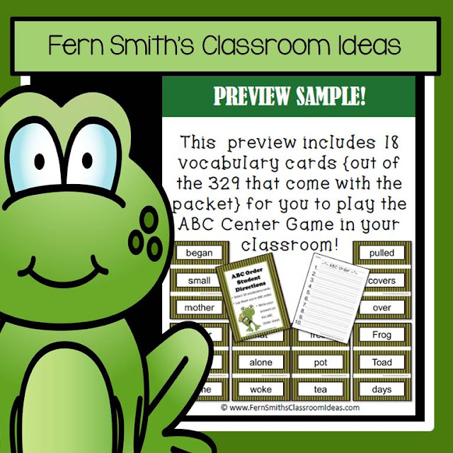 Fern Smith's Classroom Ideas Days with Frog and Toad Writing Center and Book Companion FREEBIE at TeacherspayTeachers.